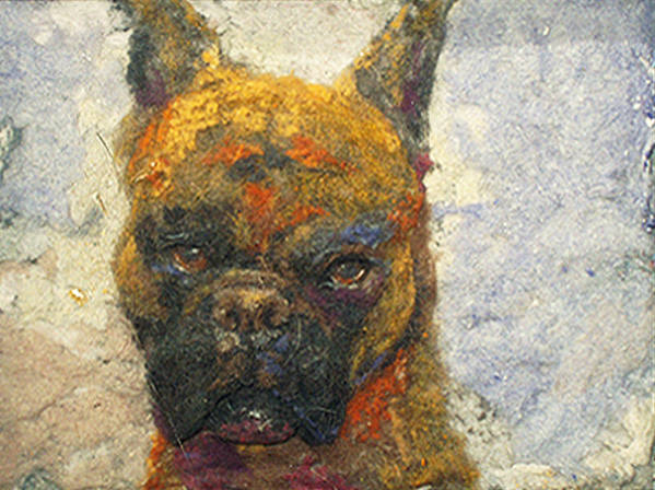 Boxer Print featuring the mixed media Oscar The Boxer by Karla Kriss