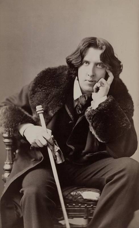 1880s Print featuring the photograph Oscar Wilde, 1854-1900 Irish Writer by Everett