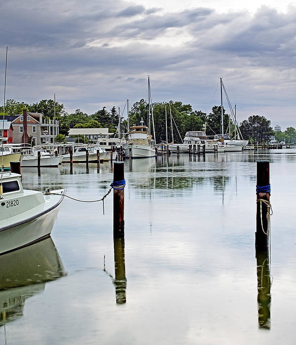 Eastern Shore Print featuring the photograph Oxford City Dock Eastern Shore Of Maryland by Brendan Reals