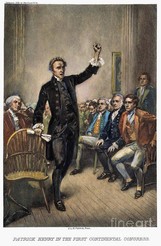 1774 Print featuring the photograph Patrick Henry (1736-1799) by Granger