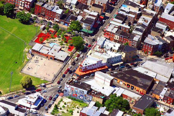 Pats Print featuring the photograph Pats King Of Steaks And Genos Steaks South Philadelphia 4542 by Duncan Pearson