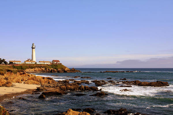 Pigeon Point Lighthouse Print featuring the photograph Pigeon Point Lighthouse Ca by Christine Till