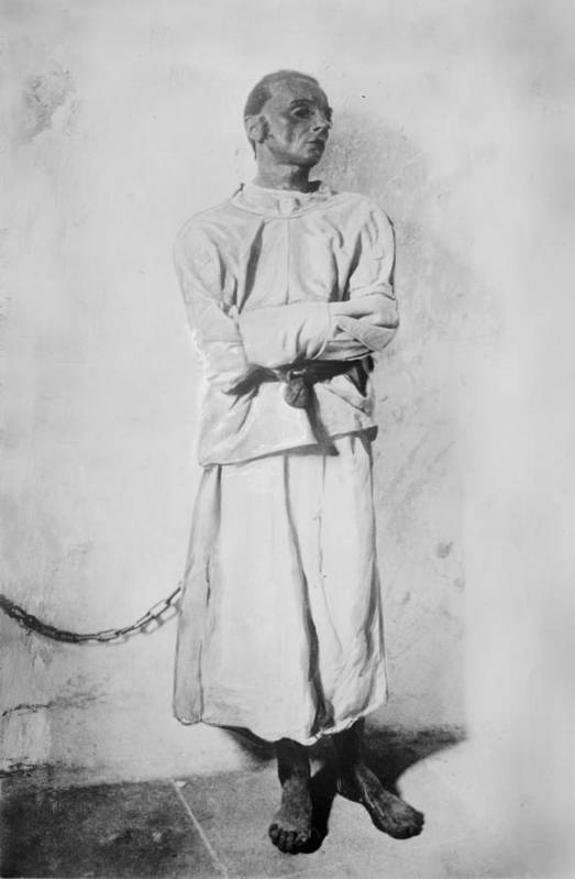 1920s Print featuring the photograph Portrait Of A Mentally Insane Man by Everett