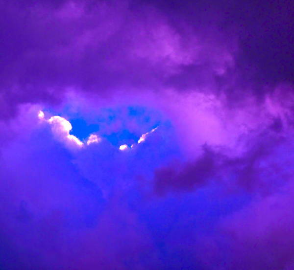 Photograph Of Clouds Print featuring the photograph Purple Storm by Gwyn Newcombe