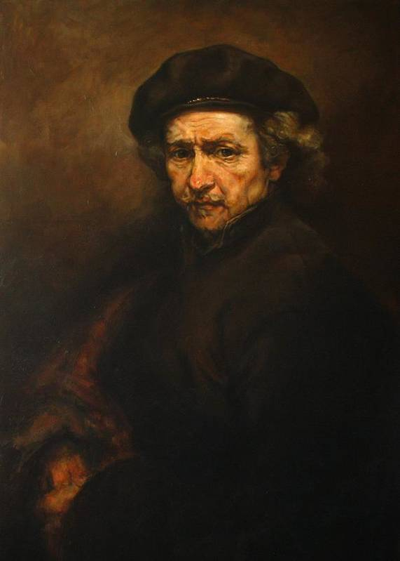 Replica Print featuring the painting Replica Of Rembrandt's Self-portrait by Tigran Ghulyan