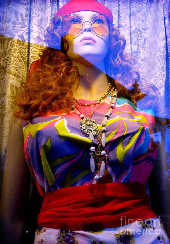 Mannequin Print featuring the photograph Retro Fashion by Colleen Kammerer