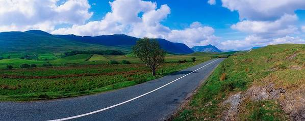 Connemara Print featuring the photograph Road From Westport To Leenane, Co Mayo by The Irish Image Collection