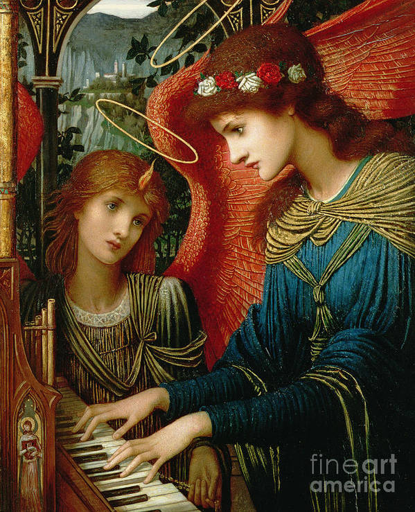 St. Cecilia Print featuring the painting Saint Cecilia by John Melhuish Strukdwic
