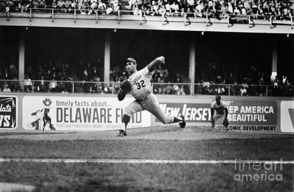 1966 Print featuring the photograph Sandy Koufax (1935- ) by Granger