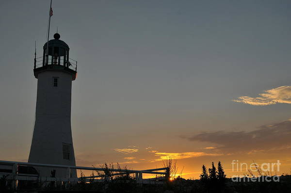 Scituate Light Print featuring the photograph Scituate Light by Catherine Reusch Daley