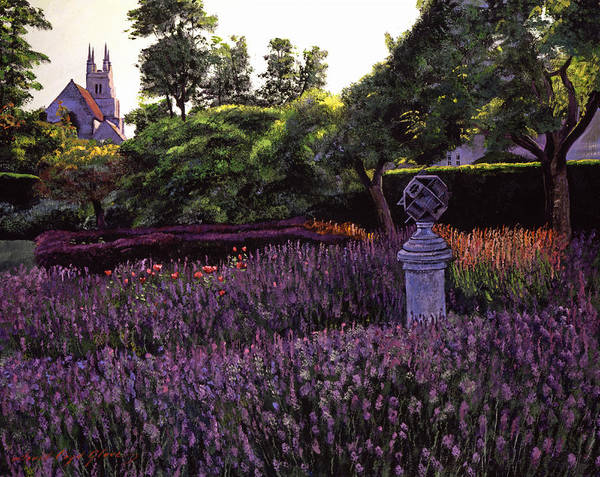 Gardens Print featuring the painting Sculpture Garden by David Lloyd Glover