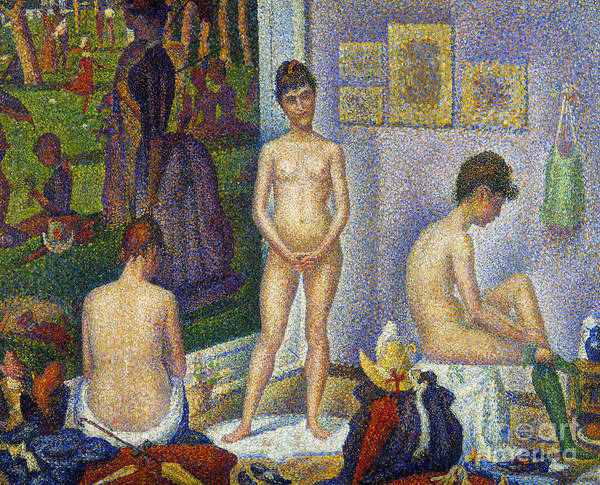 1866 Print featuring the photograph Seurat: Models, C1866 by Granger