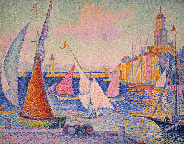 1899 Print featuring the photograph Signac: St. Tropez Harbor by Granger