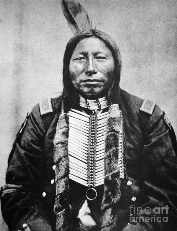 19th Century Print featuring the photograph Sioux: Crow King by Granger
