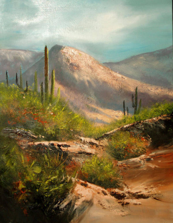 Landscape Print featuring the painting Southwest Beauty by Robert Carver