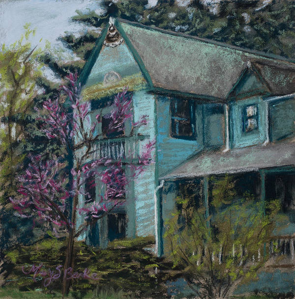 America Print featuring the painting Springtime In Old Town by Mary Benke
