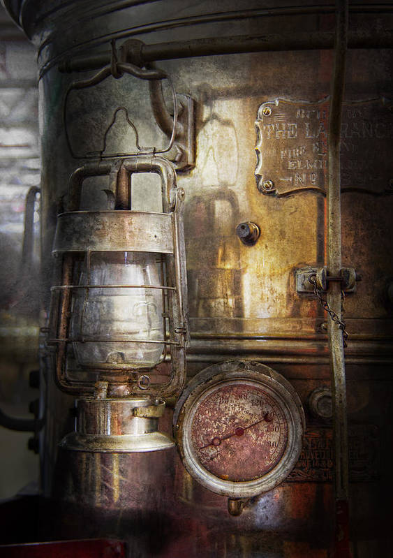Hdr Print featuring the photograph Steampunk - Silent Into The Night by Mike Savad