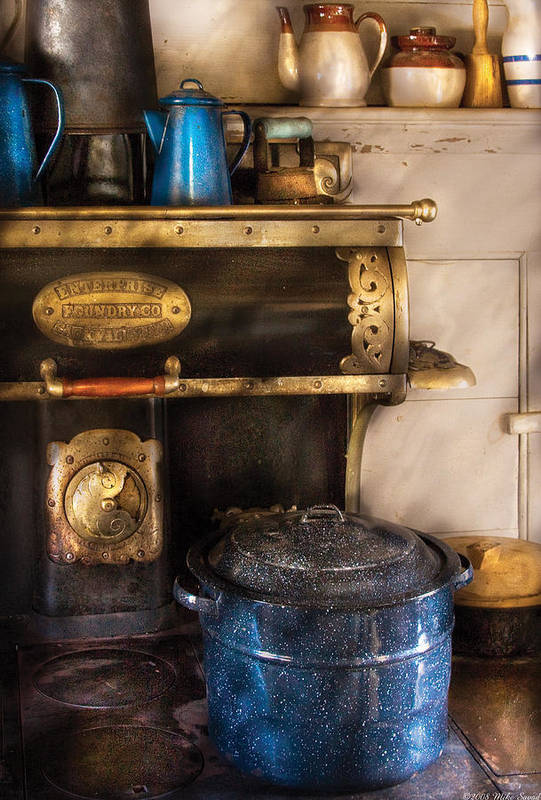 Savad Print featuring the photograph Stove - The Stove by Mike Savad