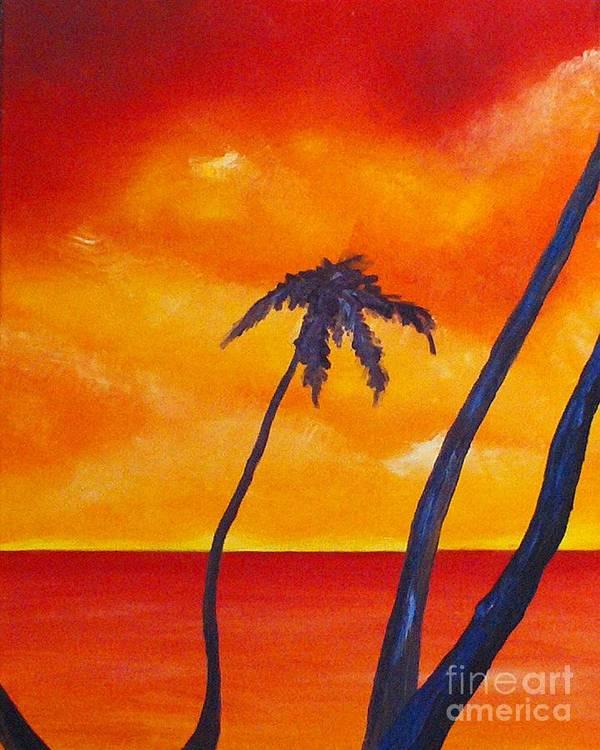 Sunrise Print featuring the painting Surprise Sunrise by Joseph Palotas