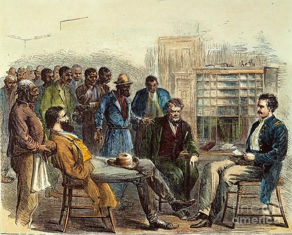 1866 Print featuring the photograph Tenn: Freedmens Bureau by Granger