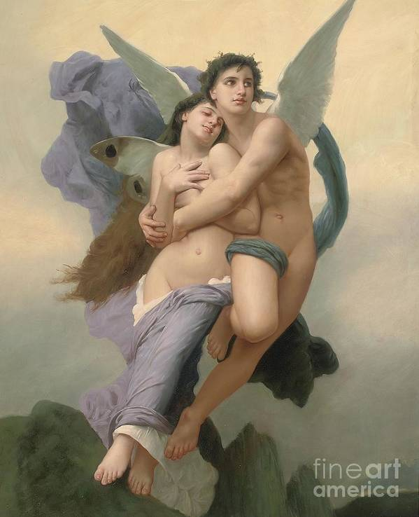 William-adolphe Bouguereau Print featuring the painting The Abduction Of Psyche by William-Adolphe Bouguereau