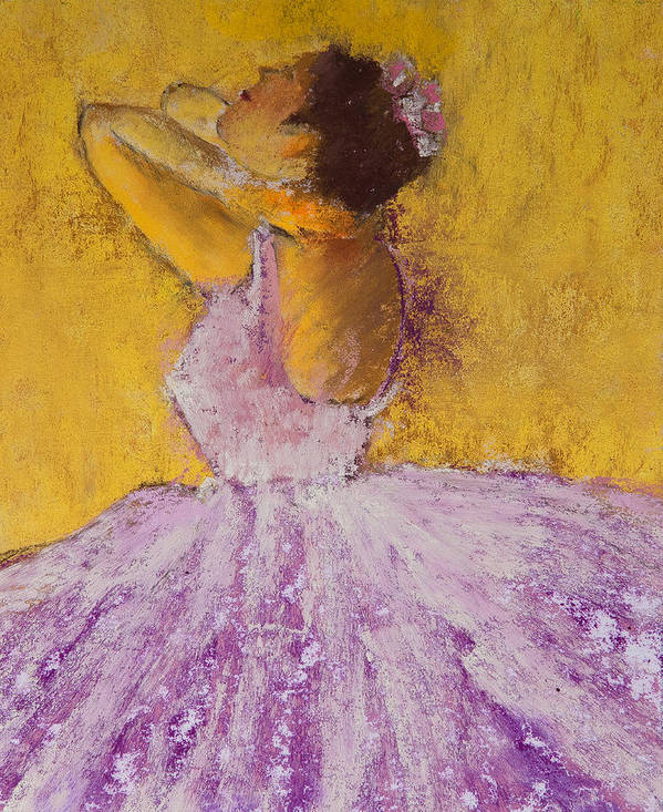 Pastel Print featuring the painting The Ballet Dancer by David Patterson