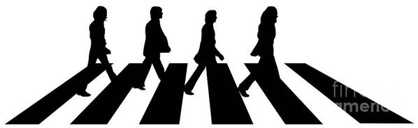Artwork Print featuring the digital art The Beatles No.02 by Unknow