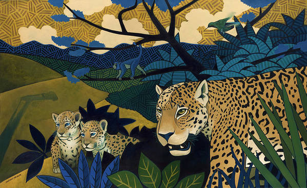 Jungle Print featuring the painting The Edge Of Paradise by Nathan Miller