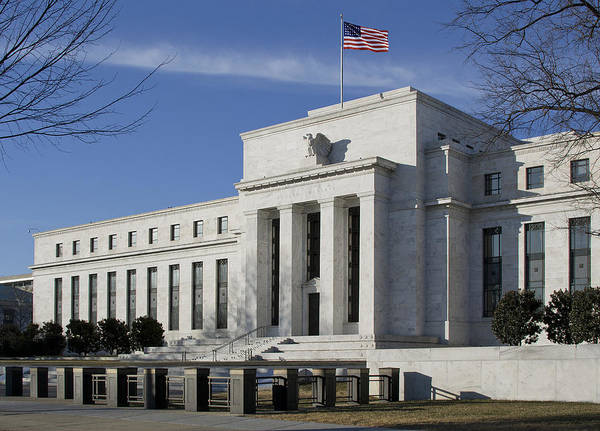 Fed Print featuring the photograph The Federal Reserve In Washington Dc by Brendan Reals