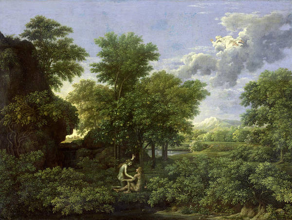 Spring Print featuring the painting The Garden Of Eden by Nicolas Poussin