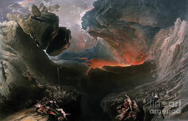 The Print featuring the painting The Great Day Of His Wrath by Charles Mottram
