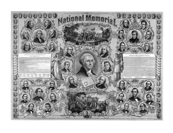 American History Print featuring the drawing The Great National Memorial by War Is Hell Store