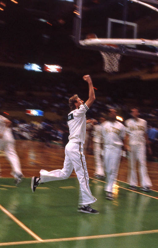 Larry Bird Print featuring the photograph The Hick From French Lick by Mike Martin