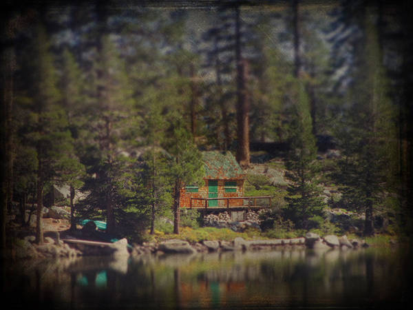 Cabin Print featuring the photograph The Little Cabin by Laurie Search