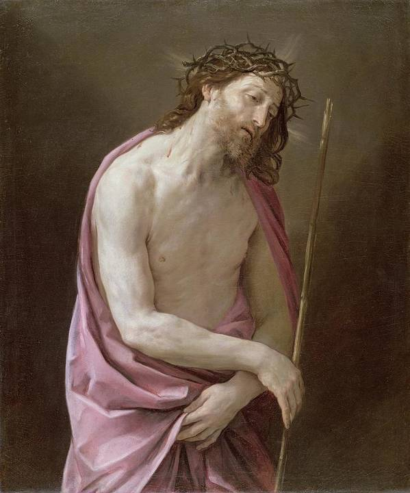 Crown Of Thorns Print featuring the painting The Man Of Sorrows by Guido Reni