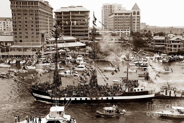 Gasparilla Print featuring the photograph The Old Crew Of Gaspar by David Lee Thompson