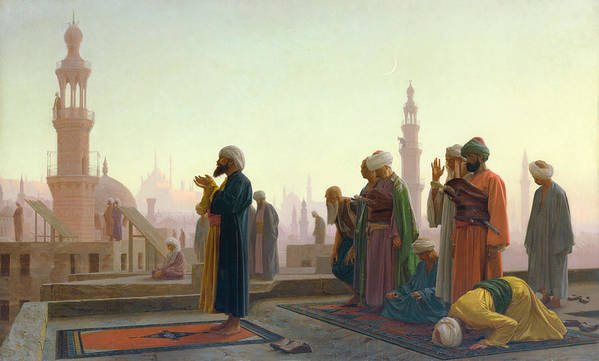 The Print featuring the painting The Prayer by Jean Leon Gerome