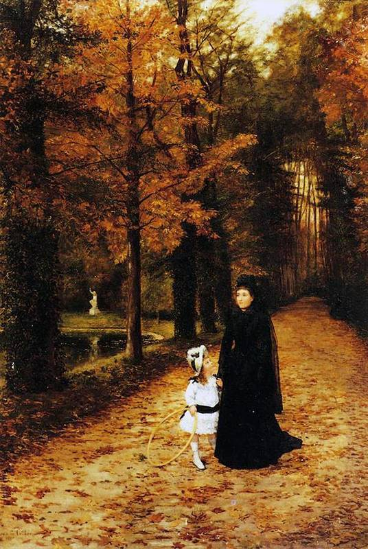 The Widow's Walk Print featuring the painting The Widow by Horace de Callias