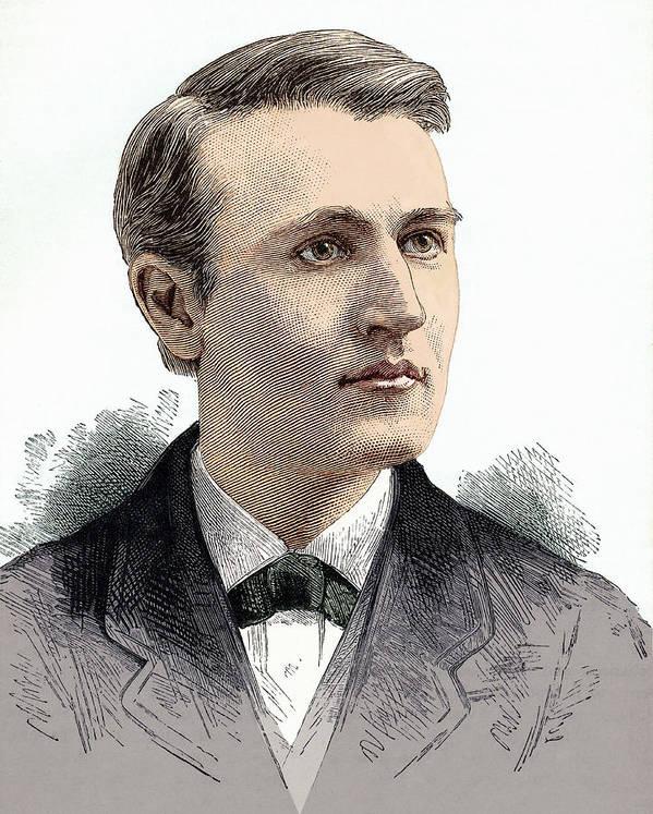 Thomas Alva Edison Print featuring the photograph Thomas Edison, American Inventor by Sheila Terry