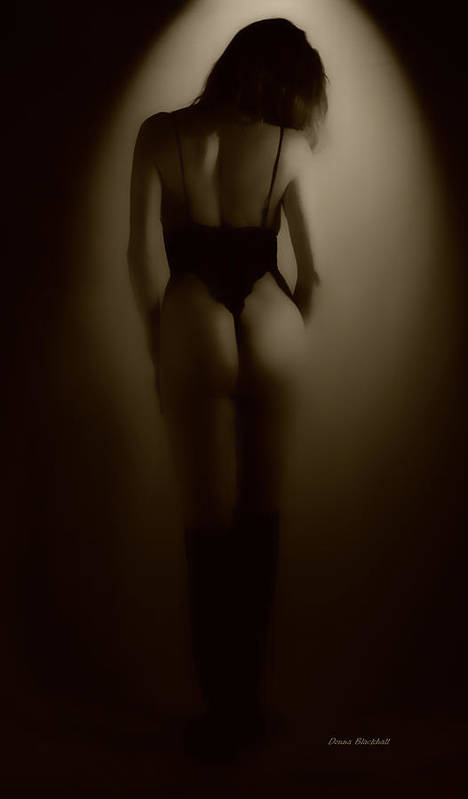 Woman Print featuring the photograph Through The Keyhole by Donna Blackhall