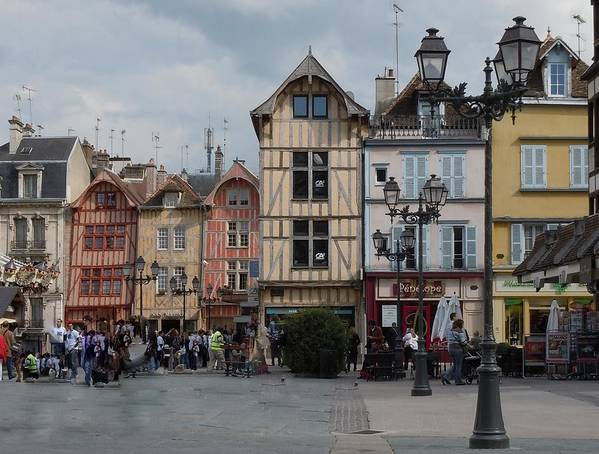 Troyes Print featuring the photograph Troyes France by Marilyn Dunlap