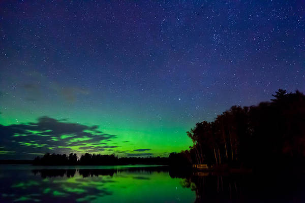 Northern Lights Print featuring the photograph Under An Alien Sky by Adam Pender