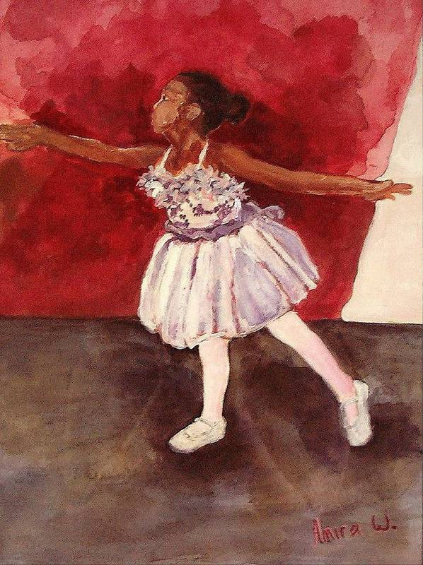 Ballet Print featuring the painting Untitled by Amira Najah Whitfield