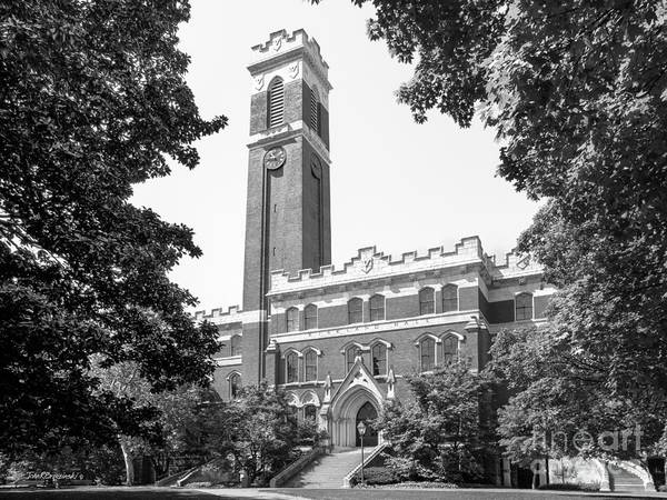 Aau Print featuring the photograph Vanderbilt University Kirkland Hall by University Icons
