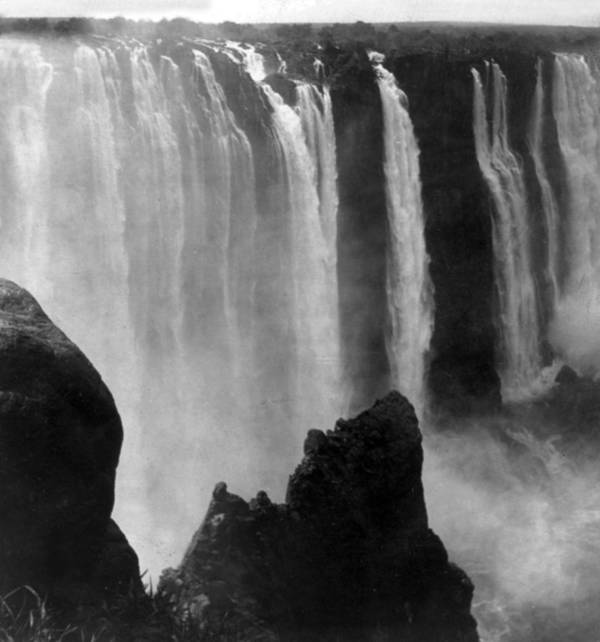 victoria Falls Print featuring the photograph Victoria Falls - C 1911 by International Images