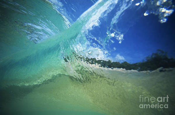 Abstract Print featuring the photograph View Through Wave by Vince Cavataio - Printscapes