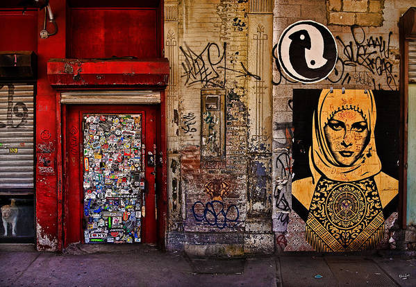 Graffitti Print featuring the photograph West Village Wall Nyc by Chris Lord