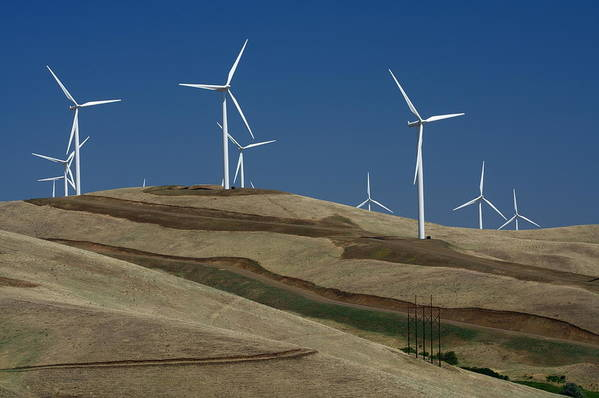 Wind Turbine Print featuring the photograph Wind Power by Todd Kreuter