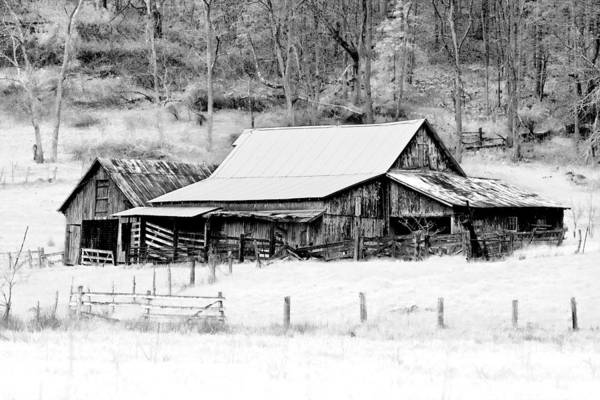 Barn Print featuring the photograph Winter's White Shroud by Tom Mc Nemar