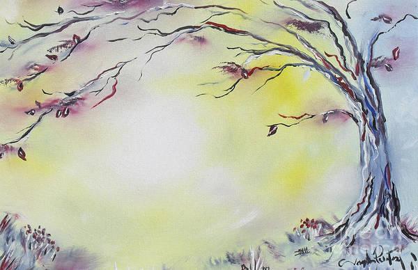 Tree Art Print featuring the painting Wonderland Bliss by Joseph Palotas